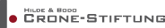 Das Logo der Hilde & Bodo Crone-Stiftung