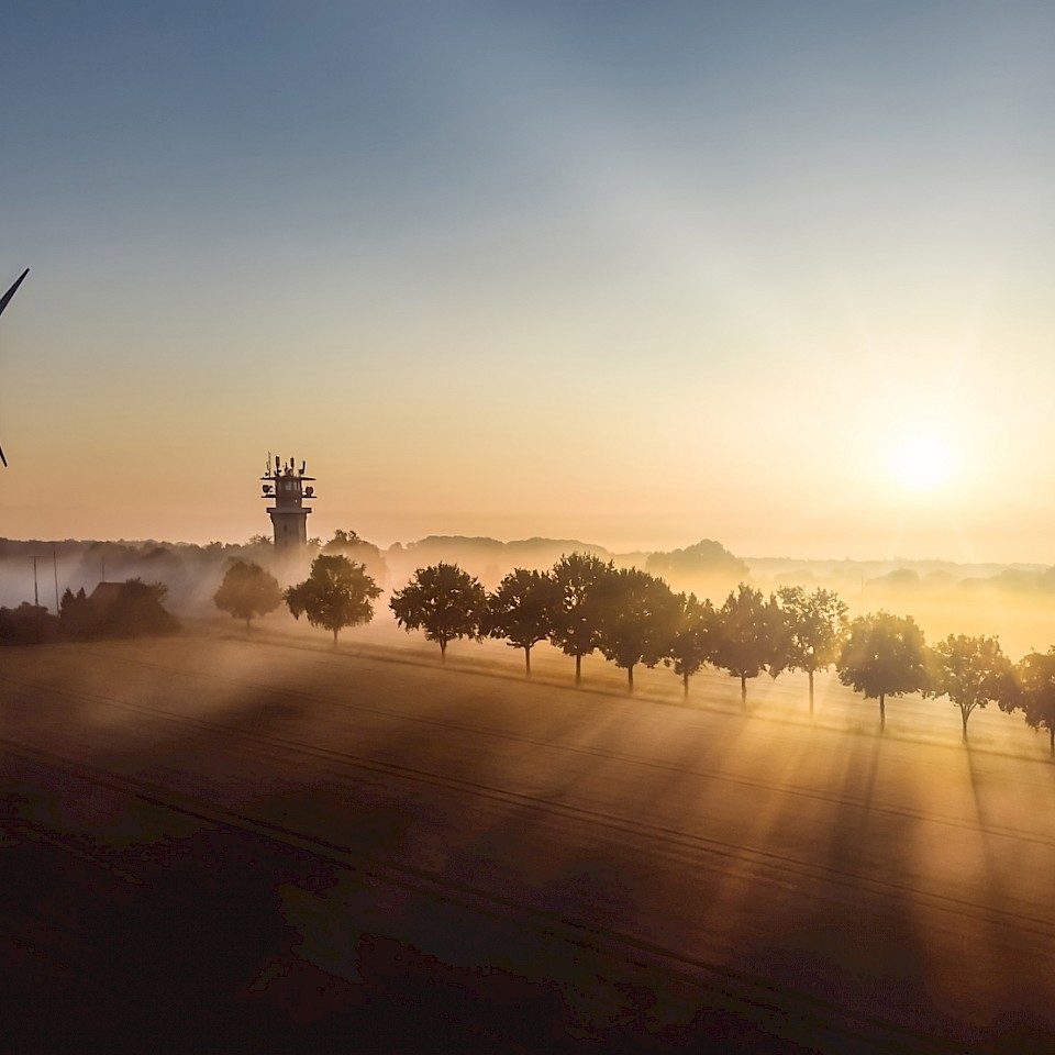Het klimaat land Münsterland