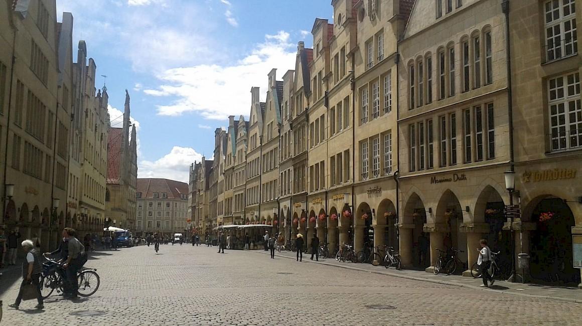 Mittelpunkt der Stadt - Der Prinzipalmarkt in Münster