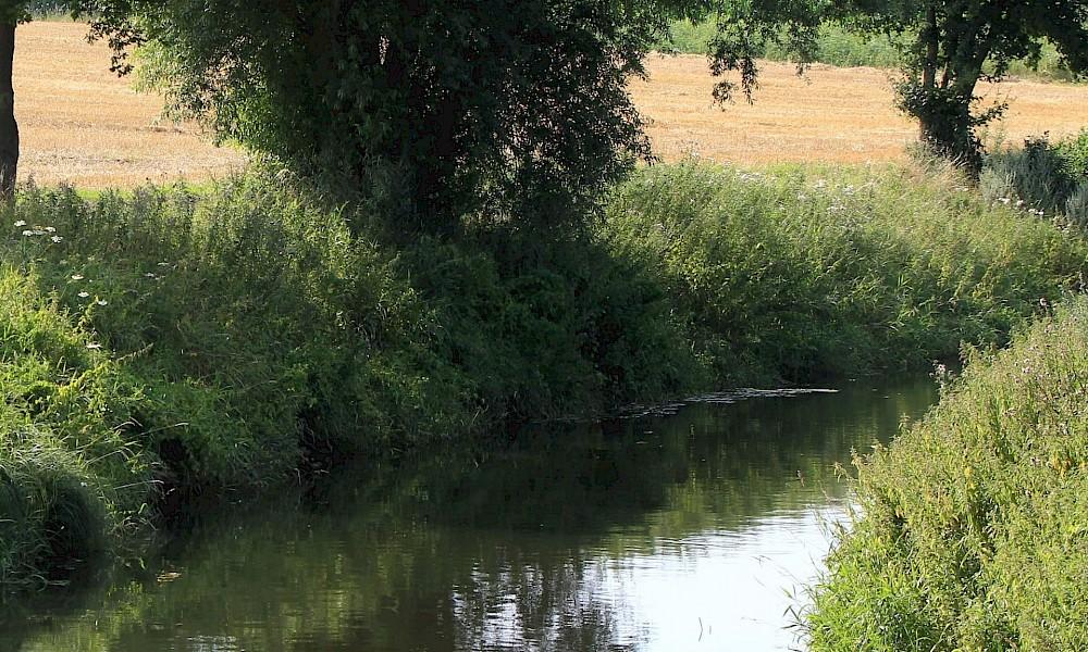 Münsterland Radfahren am Fluss