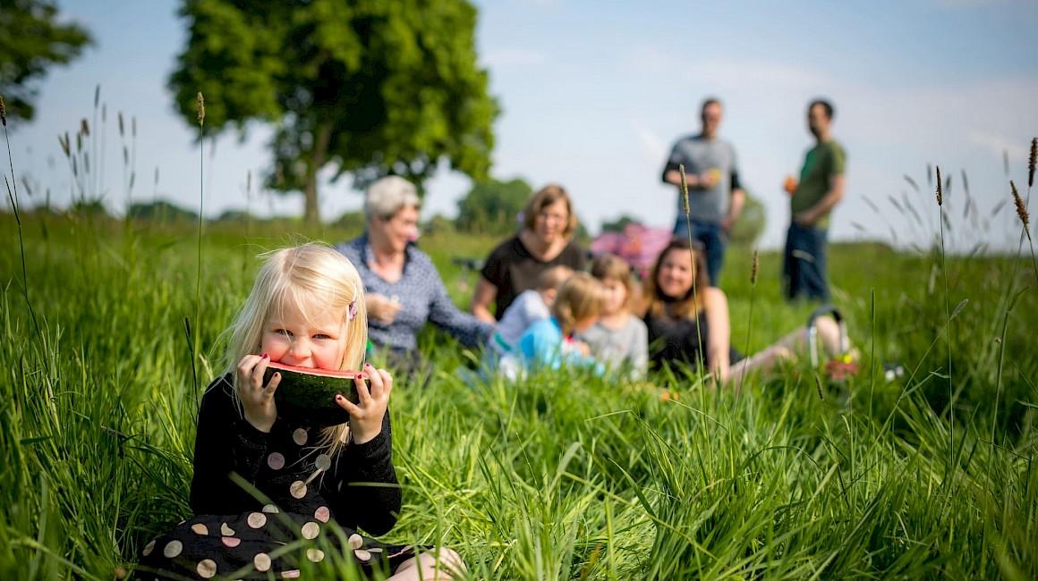 Picknicken mit der Familie im Münsterland.