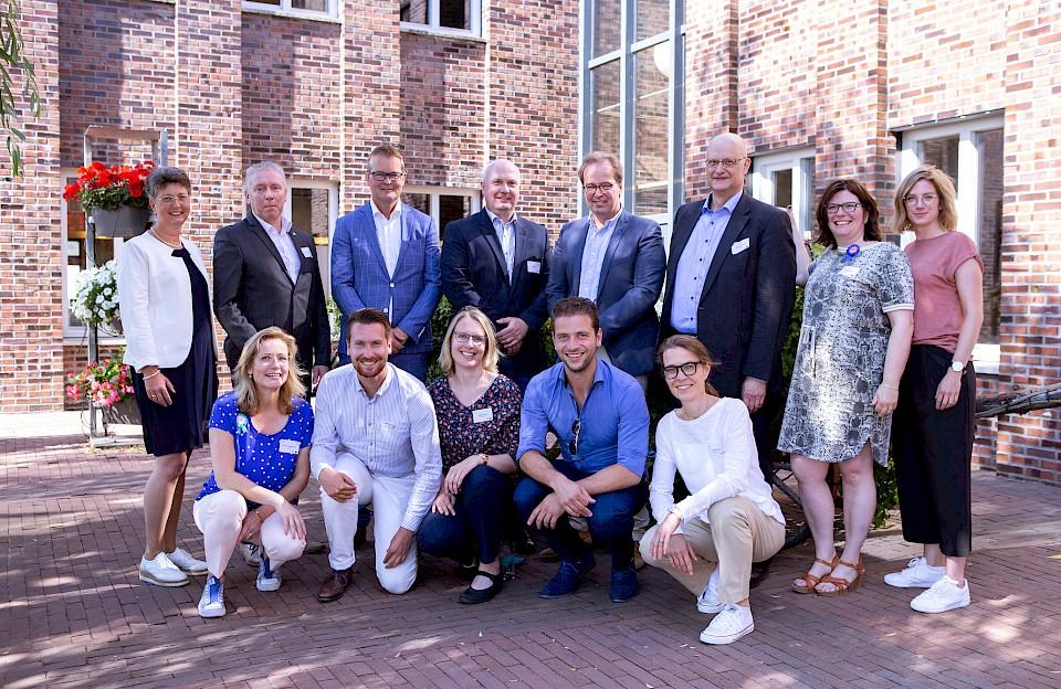 Viele Projektpartner wirkten am Erfolg von iPro-N mit, darunter auch der Münsterland e.V. Regiokoordinatorin für das Münsterland war Ruth Petermann (vordere Reihe, r.).