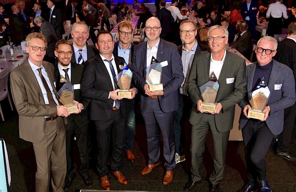 Die Preisträger des Innovationspreises Münsterland 2019.