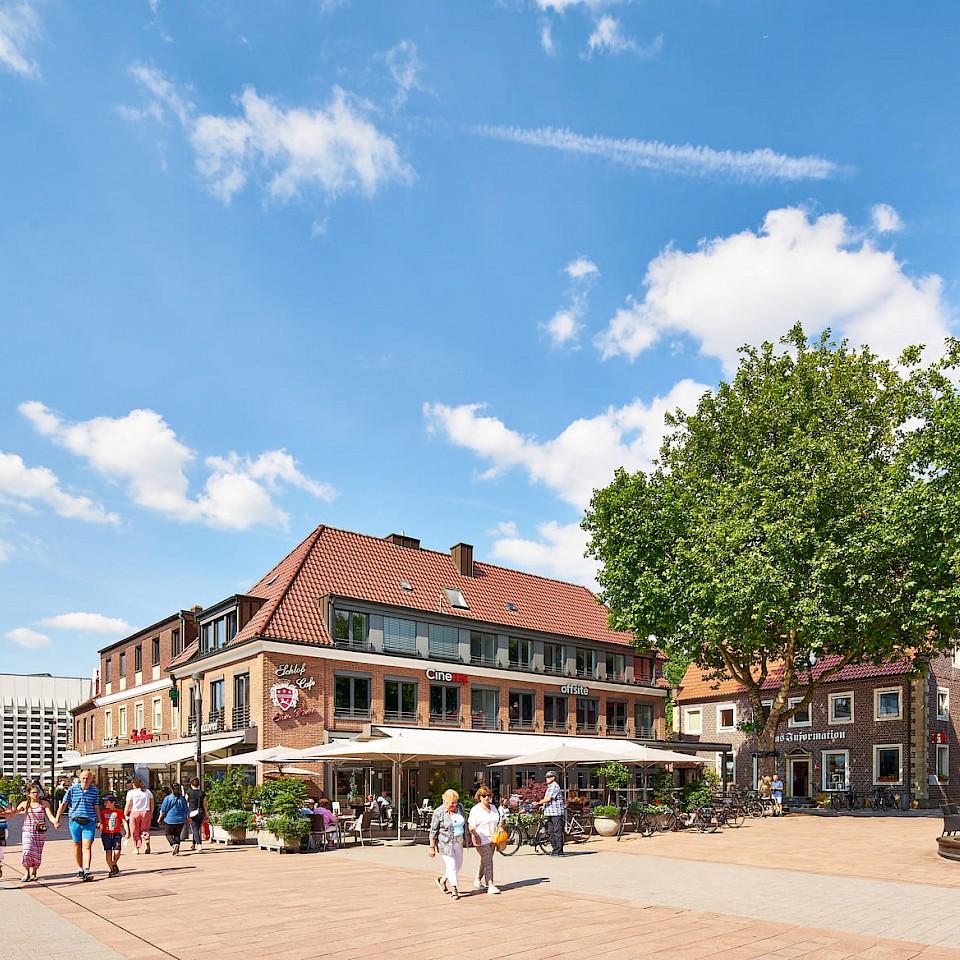 Blick auf den Oldenkottplatz in Ahaus