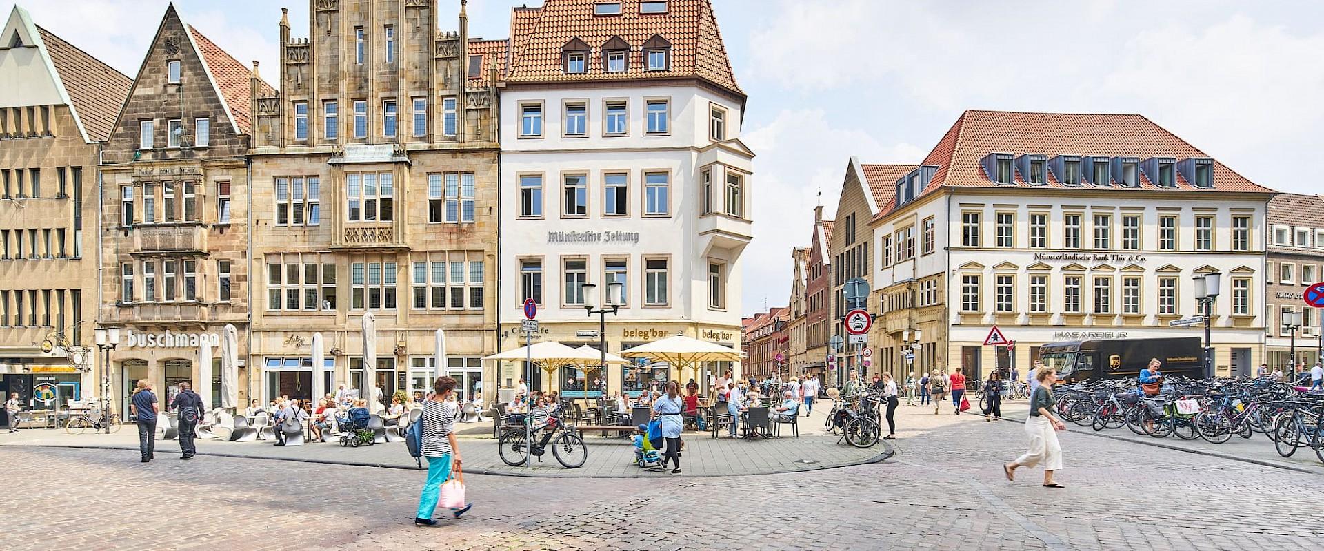 Der Prinzipalmarkt ist das Herz von Münster.
