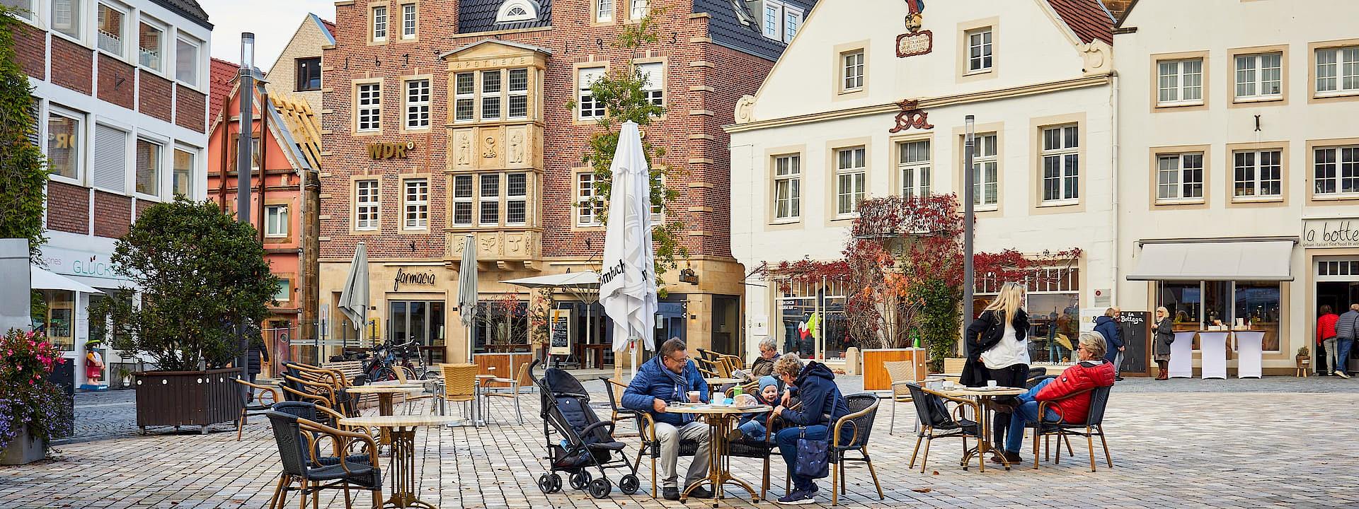 Stadt mit Dreiklang Rheine