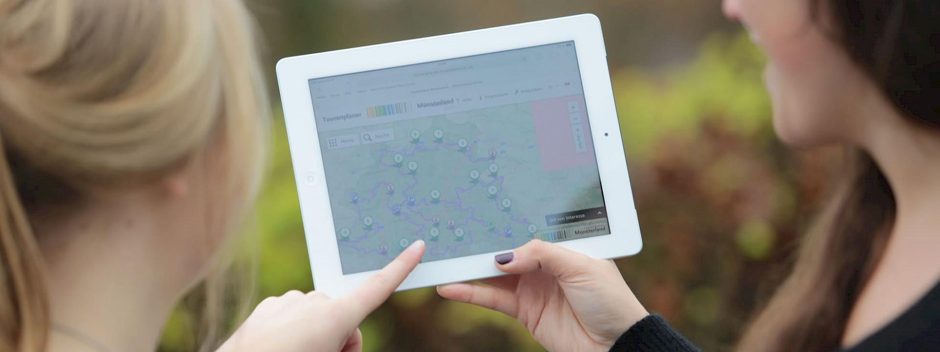Immer auf der richtigen Radtour GPS-Portal Münsterland