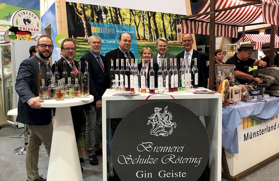 Bereits im vergangenen Jahr präsentierten sich verschiedene Gastronomen und Produzenten am Münsterland-Stand auf der IGW