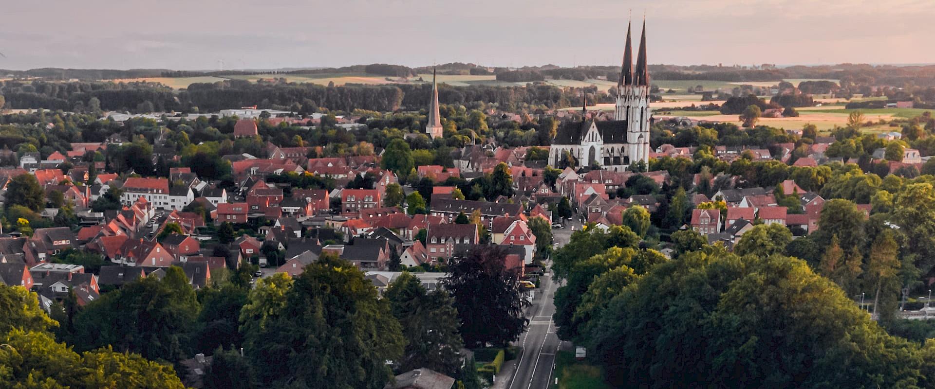 Blick auf den Dom von Billerbeck