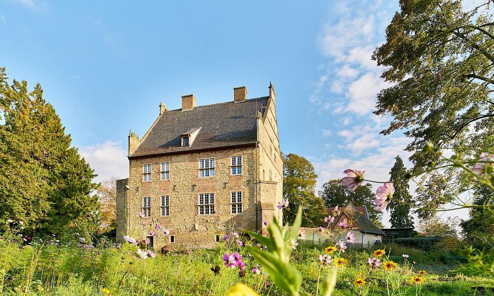 Blick auf einen Burgmannshof in Nienborg bei Heek
