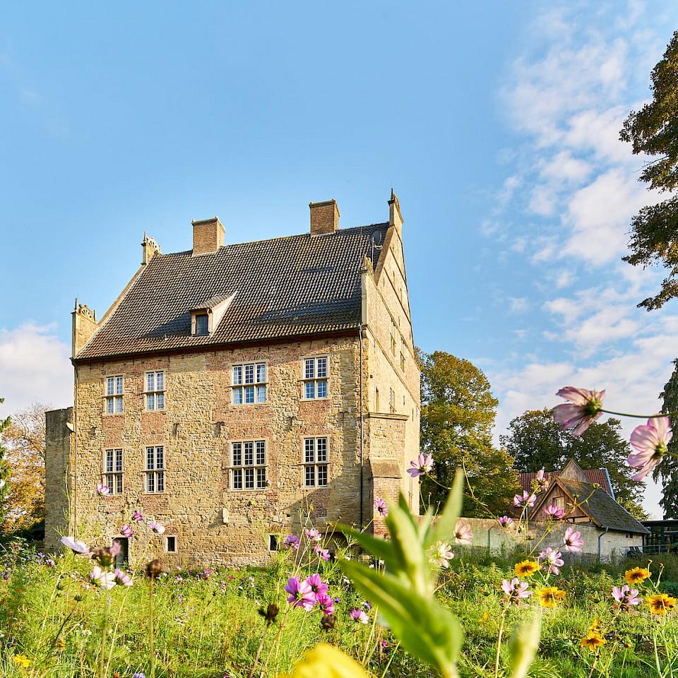 View of a Burgmannshof in Nienborg near Heek