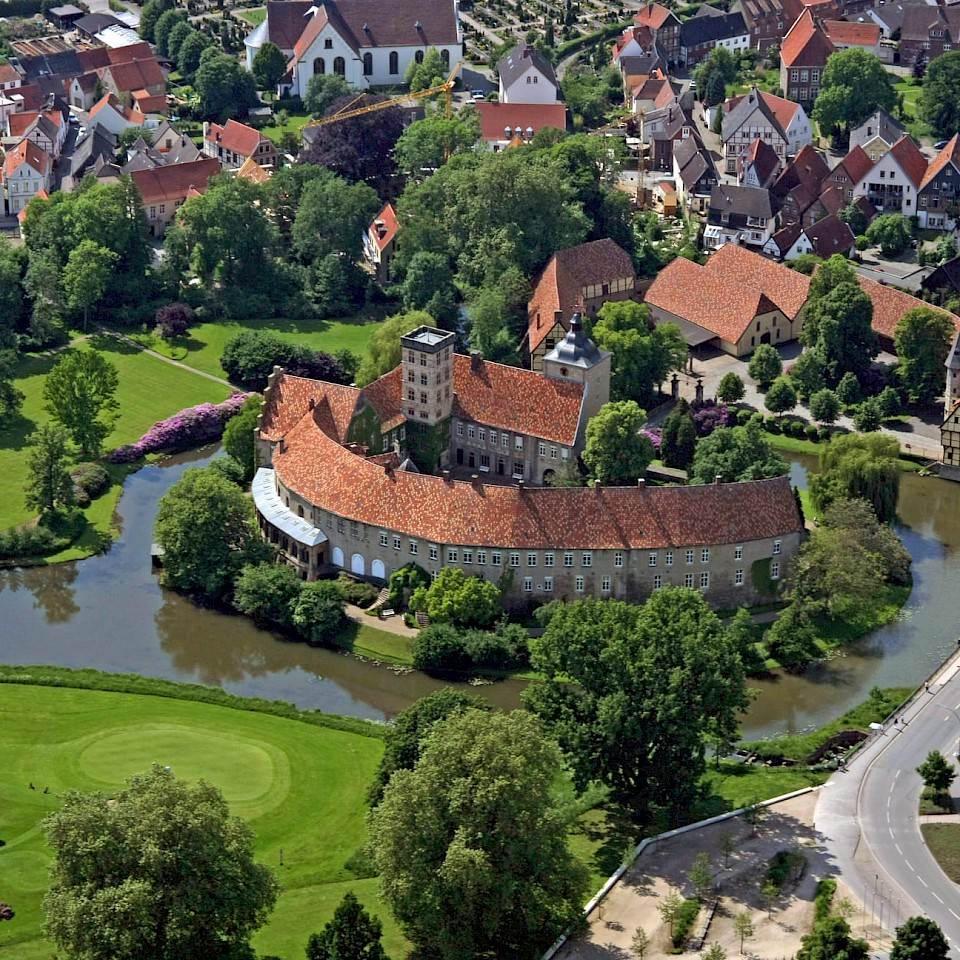 Steinfurt Castle from the air