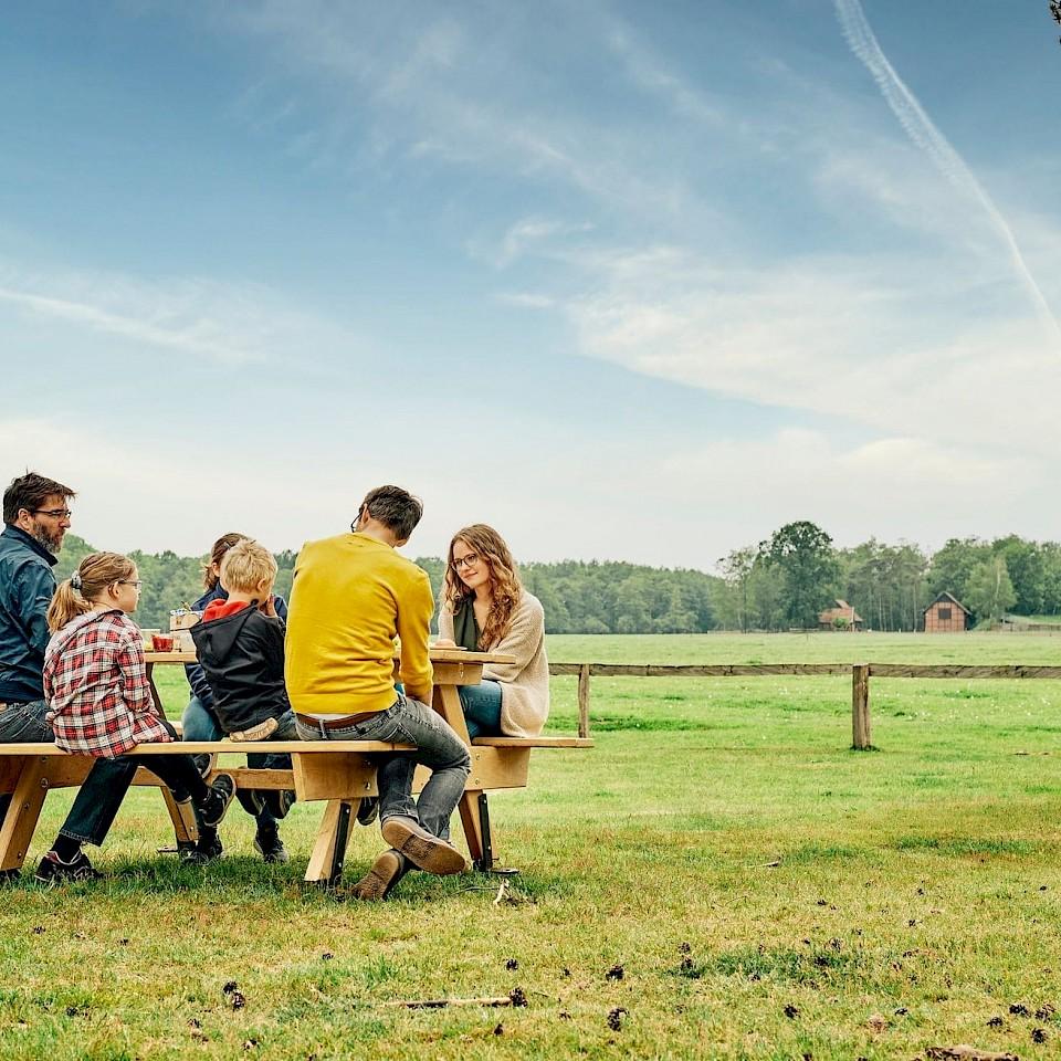 Familienpicknick im Münsterland