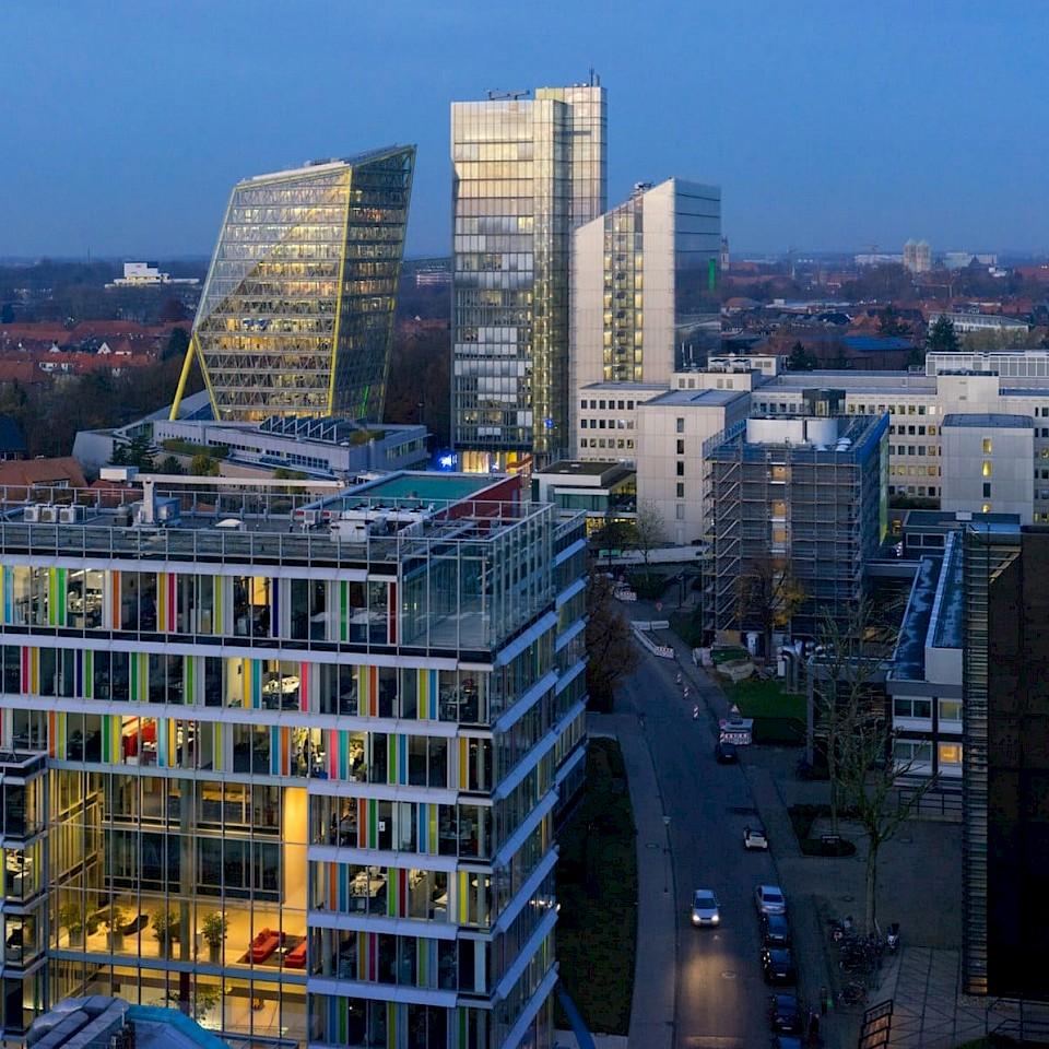 Blick von oben: Arbeiten bei der LVM in Münster