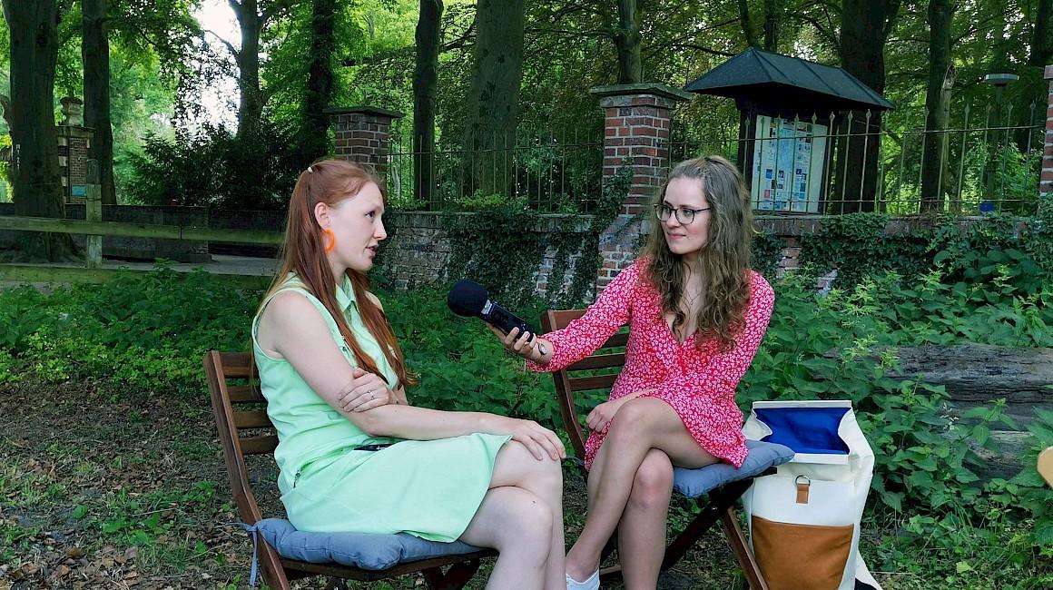 Anna-Ida Almus im Interview mit Regionsschreiberin Charlotte Krafft.