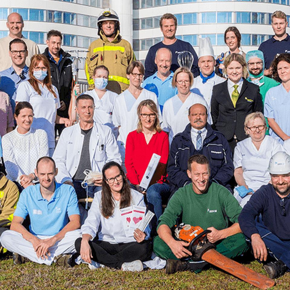 Verschillende beroepsgroepen aan de UKM in Münster.