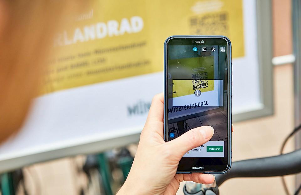 Miete dein MünsterlandRad: bequem per App.