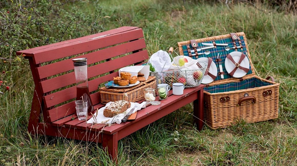 Der Oldtimer-Picknick-Korb