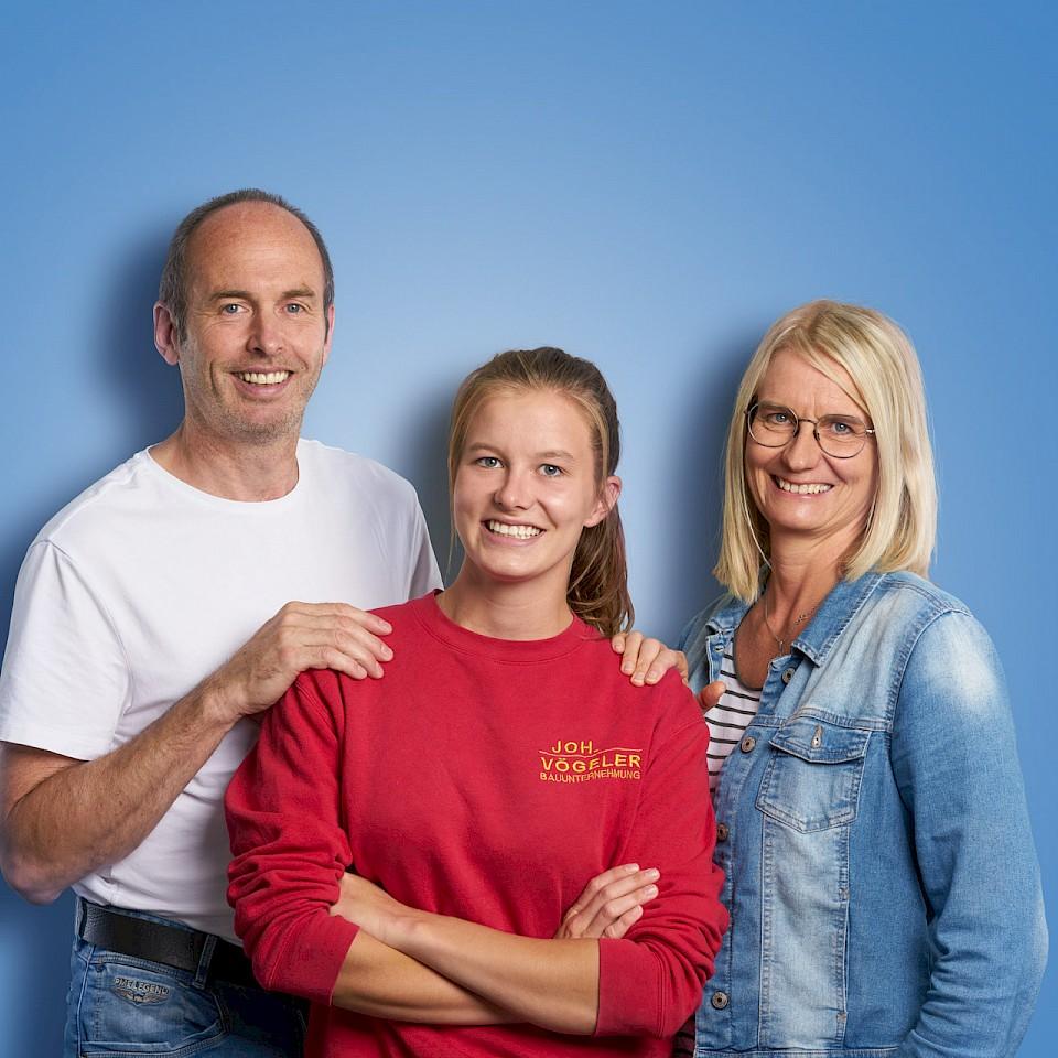 Lara Hellenkemper und ihre Eltern Karin und Jörg aus Ennigerloh
