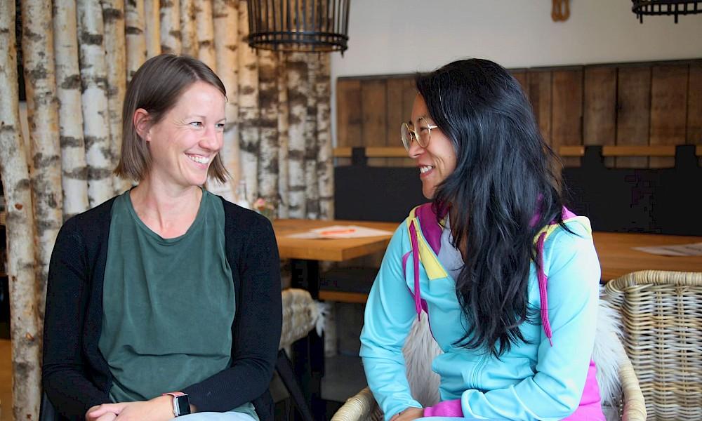 Zurückgekehrt nach Borken: Jihn-Young und Nadine