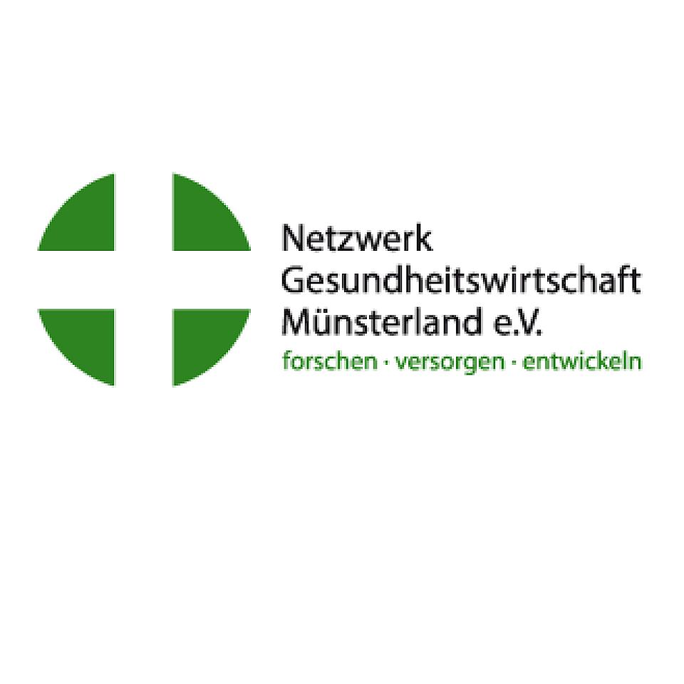 Das Logo des Netzwerks Gesundheitswirtschaft Münsterland e.V.