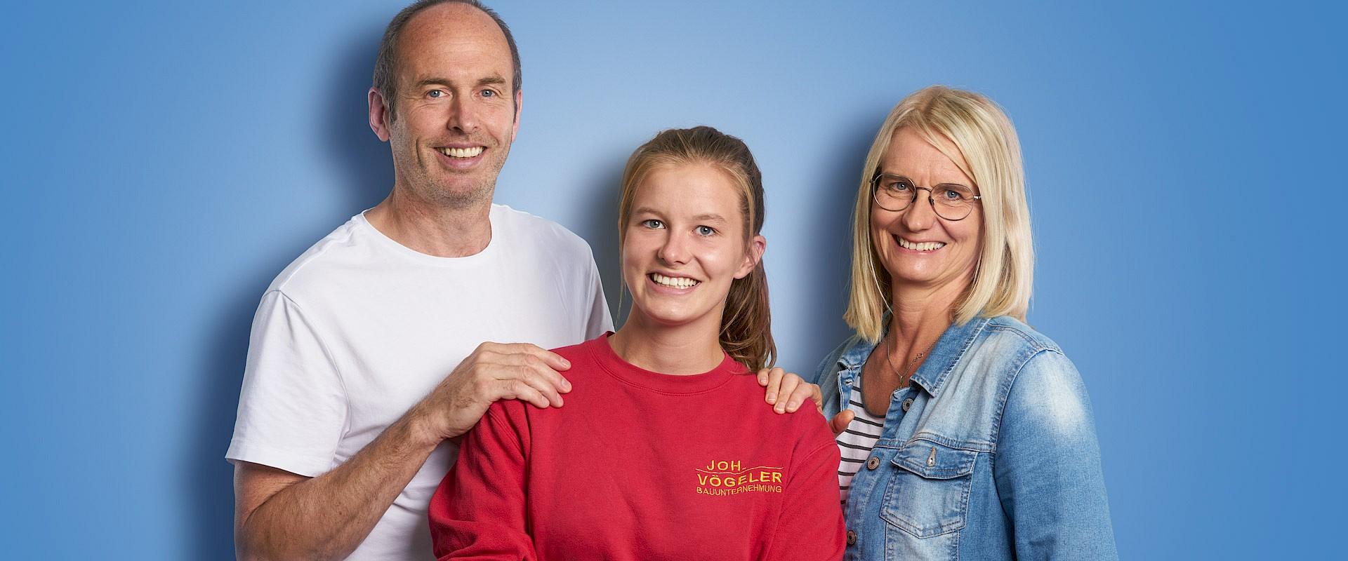 Lara Hellenkemper und ihre Eltern