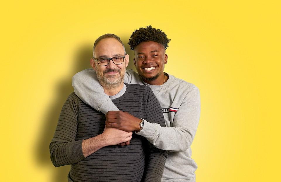 Der Auszubildende Marvin und sein Vater Rainer