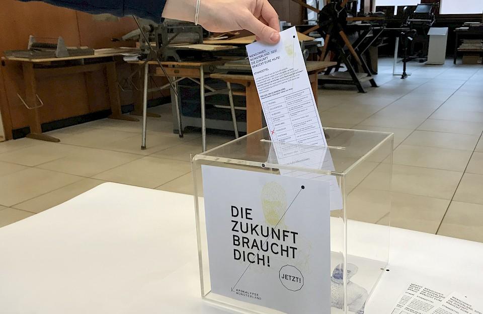 Jede Stimme zählte: Museumsbesucher im ganzen Münsterland wählten Kulturgüter aus, die sie in die Zukunft schicken wollen.