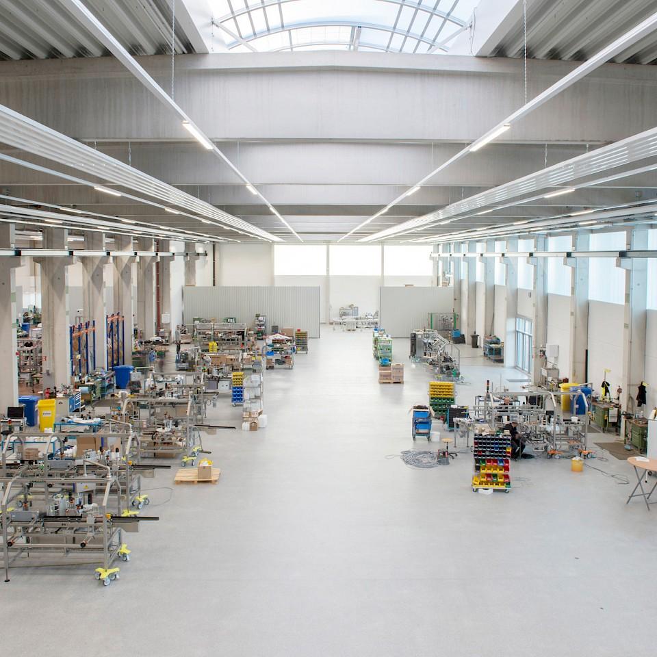 Een blik in de productiehal van Langguth GmbH in Senden-Bösensell.