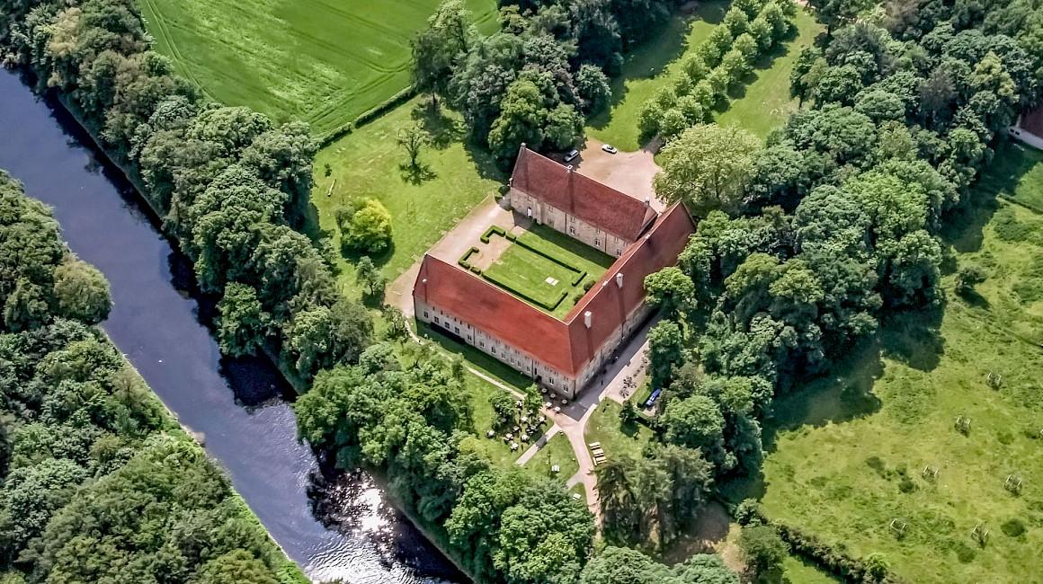 Das Kloster Bentlage in Rheine liegt direkt am EmsRadweg