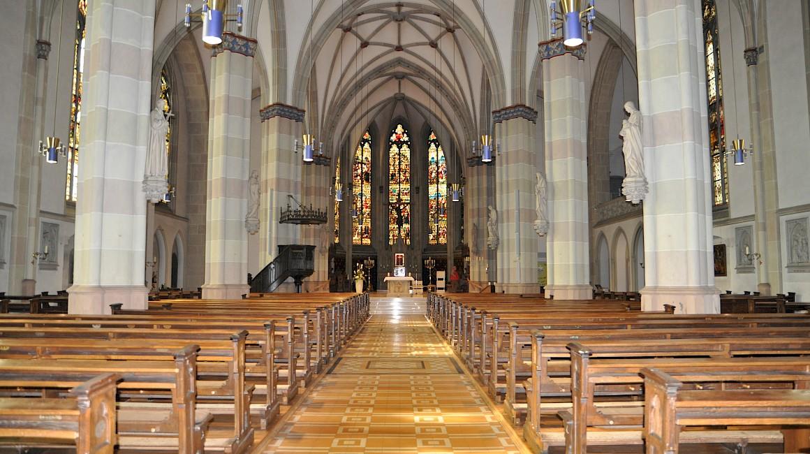 Blick in die Kirche von Ochtrup