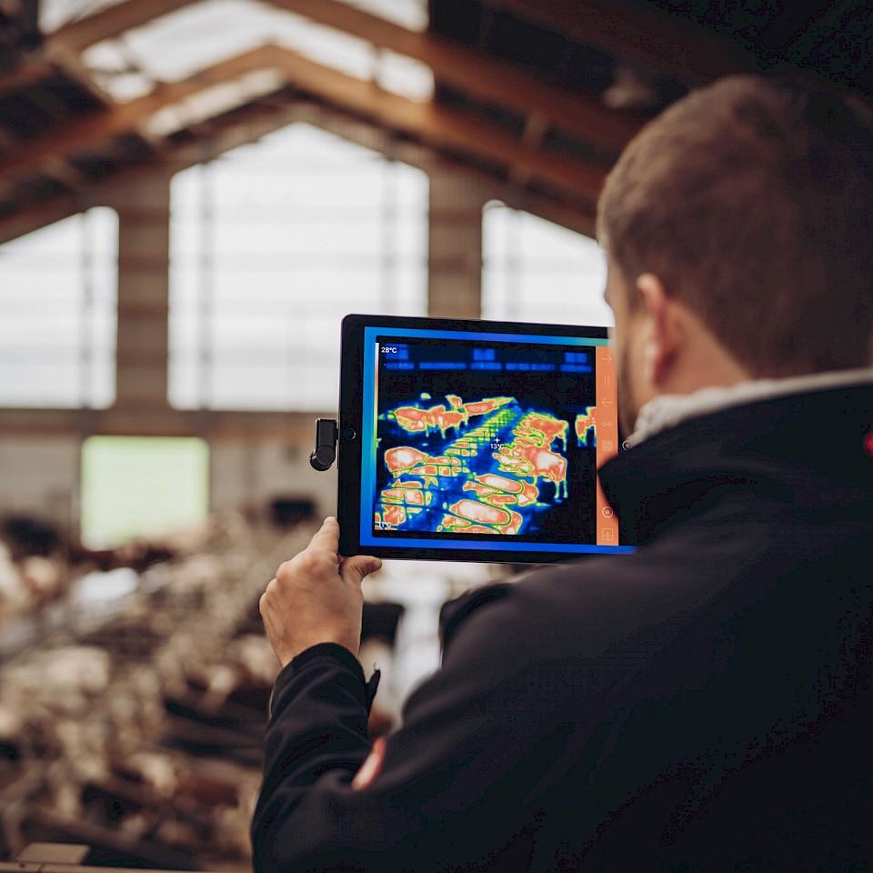 Lubratec Smart is een systeem dat belangrijke gegevens over het stalklimaat registreert.