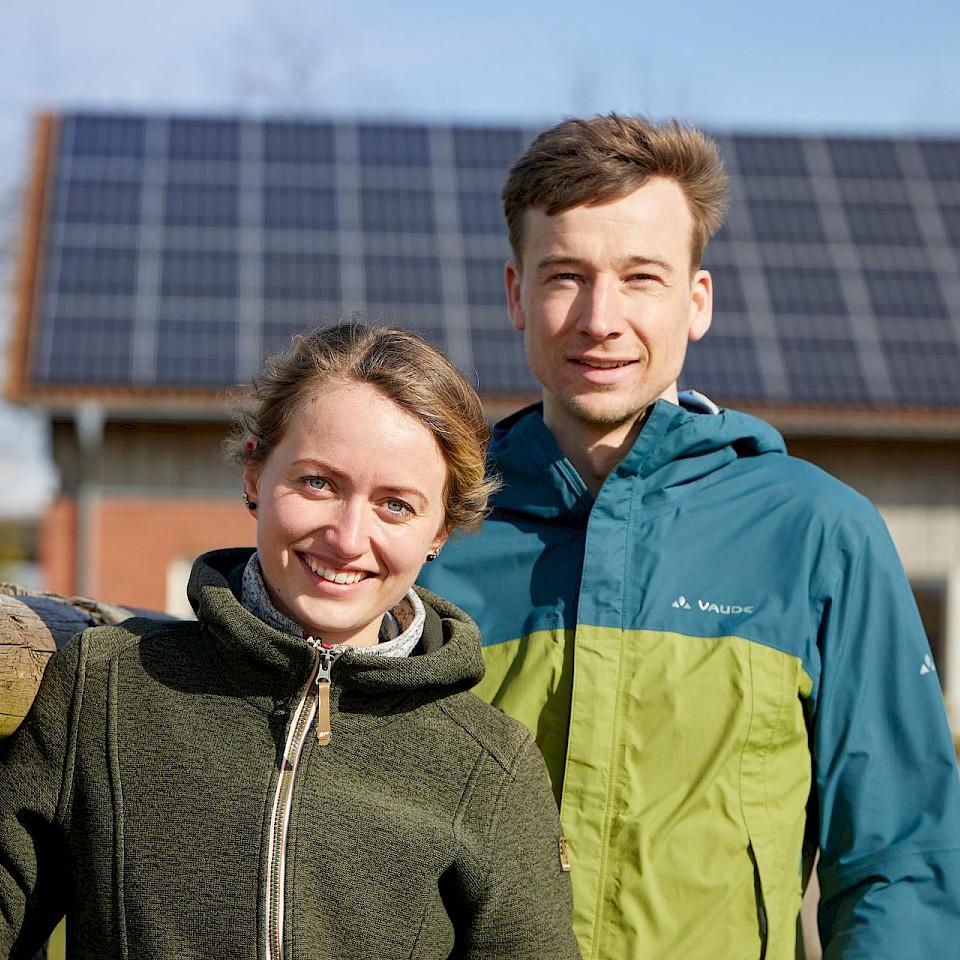 Sophie und Sebastian aus Dülmen nutzen die Sonnenenergie