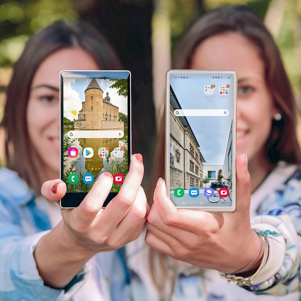 Wallpapers for the Münsterland smartphones
