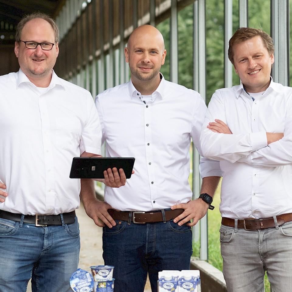 De drie oprichters van FrachtPilot.