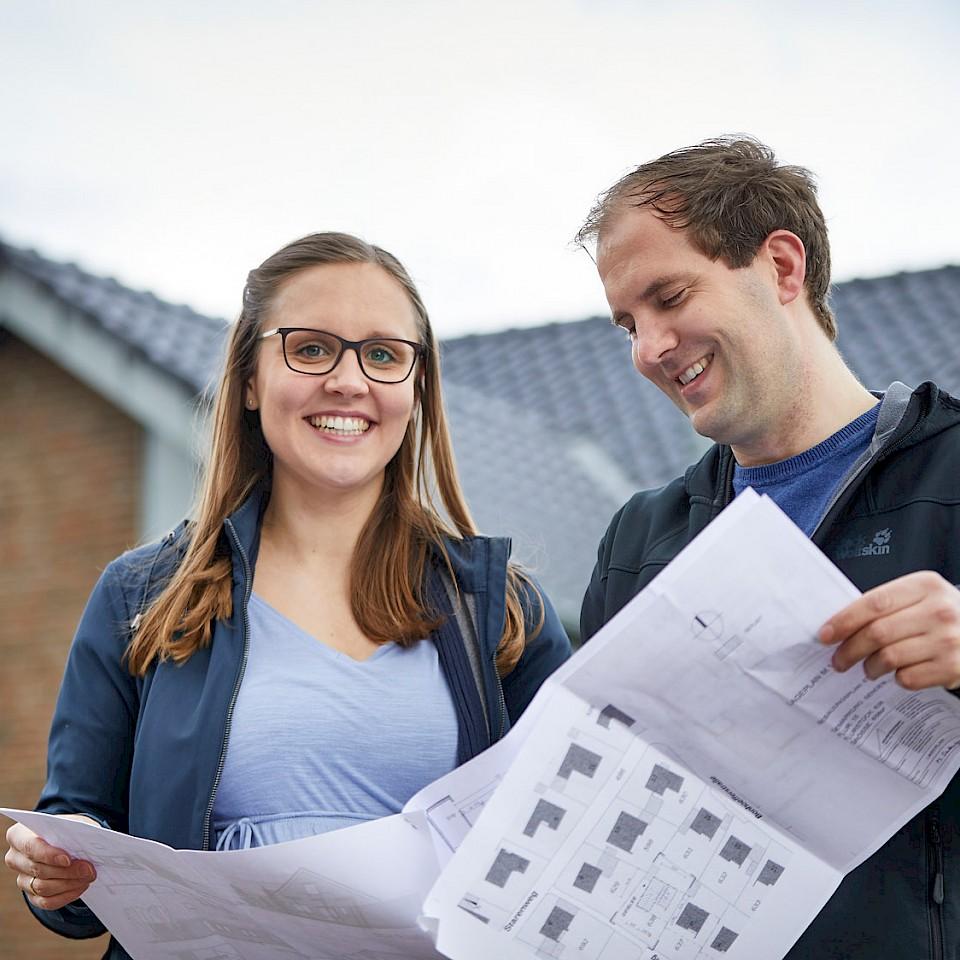 Sanierten ein Haus in Senden: Anja und Philip Geißler