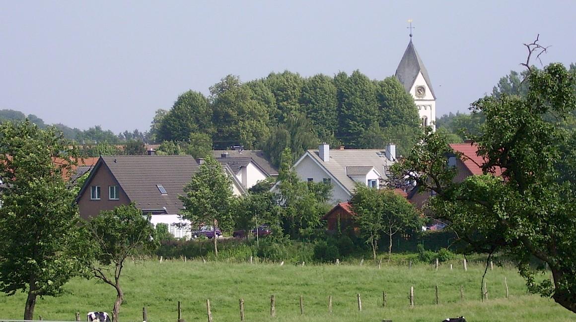 Malerischer Blick auf den Ortsteil Wersen