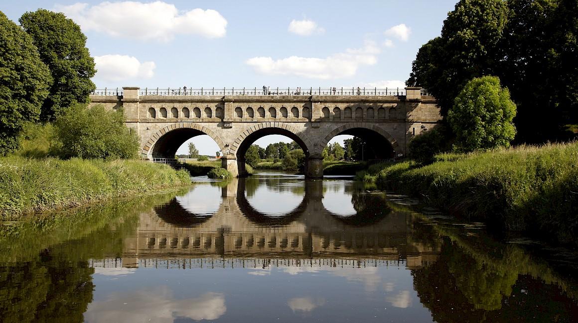 Die Dreibogenbrücke bei Olfen ist eines der beliebtesten Fotomotive