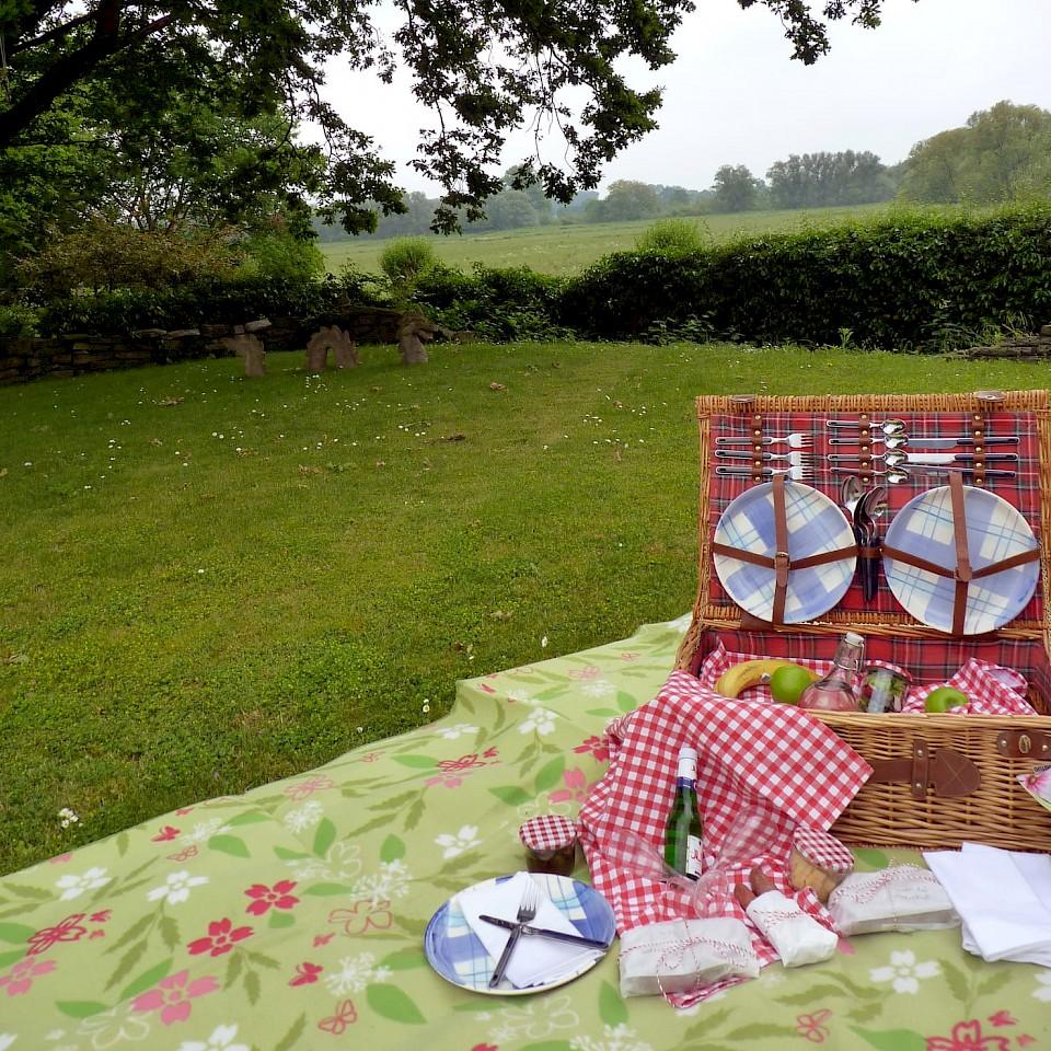 Picknick am Haus Tourneur in Lippetal