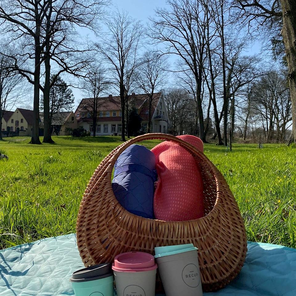 Picknick am Café Haus Hülshoff