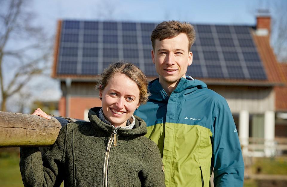 Auch im Münsterland haben immer mehr Menschen Photovoltaik auf dem Dach – Sophie und Sebastian aus Dülmen sind dafür ein Beispiel.