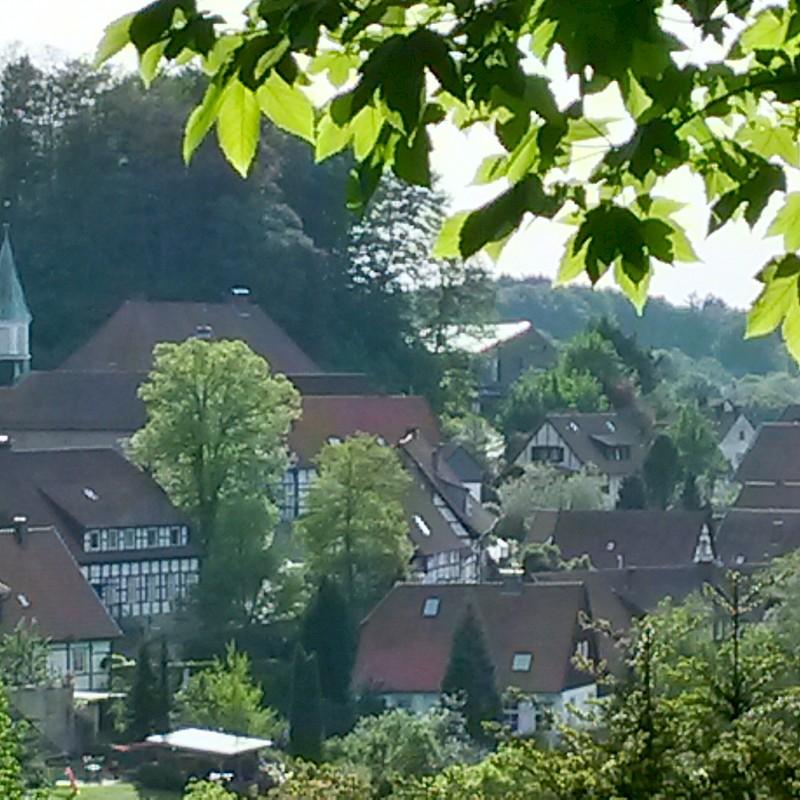 Blick auf die schöne Altstadt von Tecklenburg<br>© Münsterland e.V.