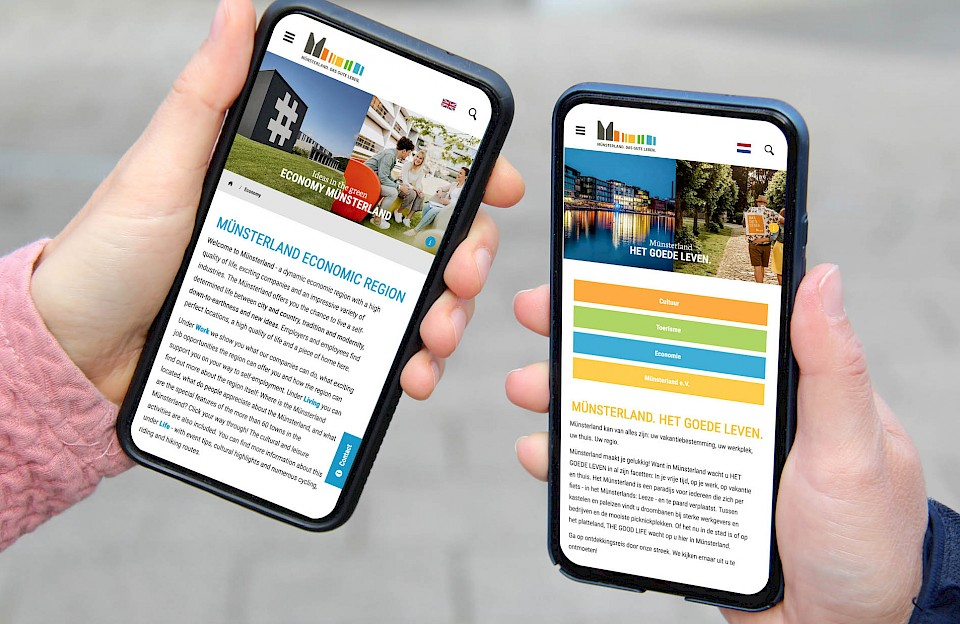 Website muensterland.com auf Deutsch und Niederländisch verfügbar