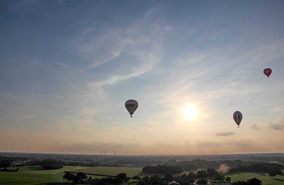 Instagrammer entdeckten das Münsterland von oben bei einer Ballonfahrt.