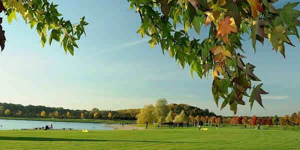 Der Horstmarer See prägt den Seepark in Lünen