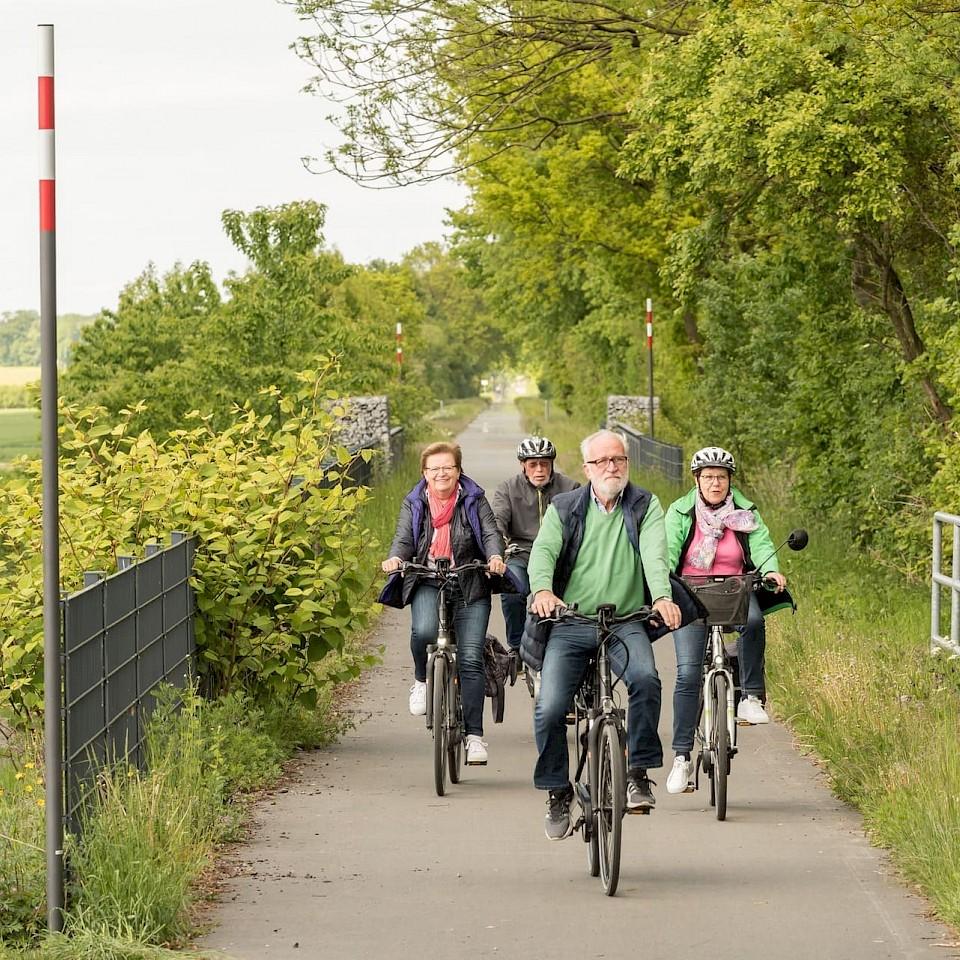Radfahren auf der Radbahn rund um Coesfeld