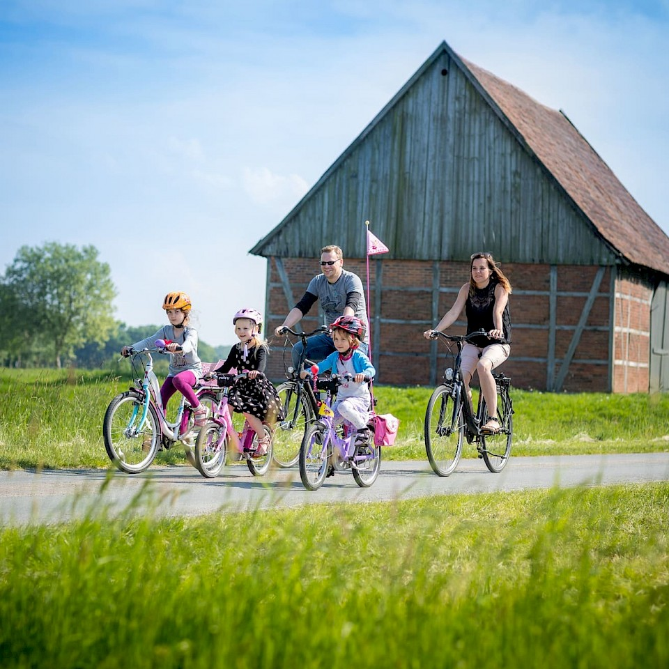 Family cycling tour in the Münsterland