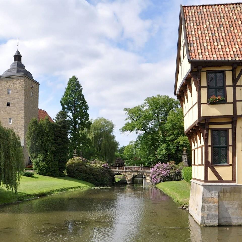 Schlossmühle und Schloss in Steinfurt